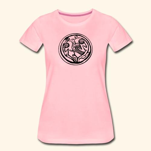 Vogel in boom - Vrouwen Premium T-shirt