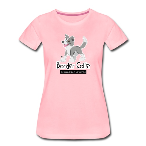 CartoonClub Border Collie merle - Women's Premium T-Shirt