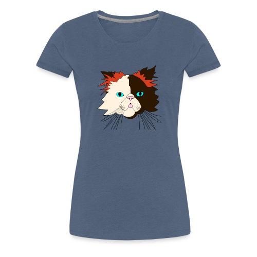 Katze - Brownie - Theophil-Nerd - Frauen Premium T-Shirt