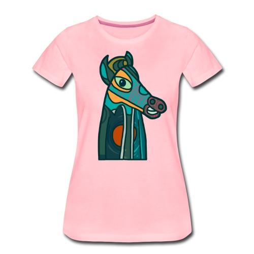 Horse - Premium-T-shirt dam