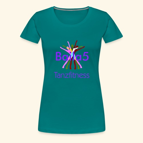 Baila5 Tanzfitness violet - Frauen Premium T-Shirt