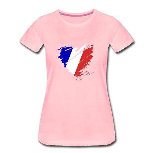 Herz Cœur France Frankreich Grande Nation Rotwein - Women's Premium T-Shirt