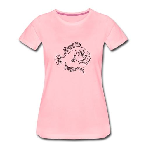 Fisch Barsch Ozean Meer Wasser Aquarium Angeln - Frauen Premium T-Shirt