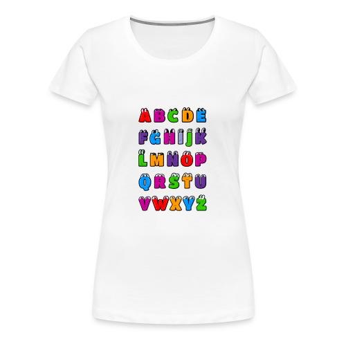 Letras del alfabeto Kawaii ABC para niños. Dibujos - Camiseta premium mujer