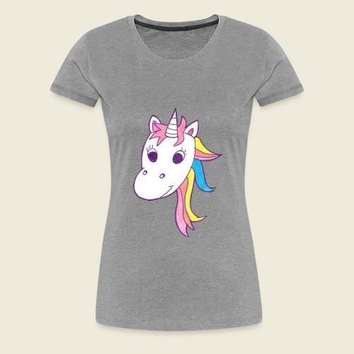 Einhorn Unicorna lila weiß bunte Mähne - Frauen Premium T-Shirt