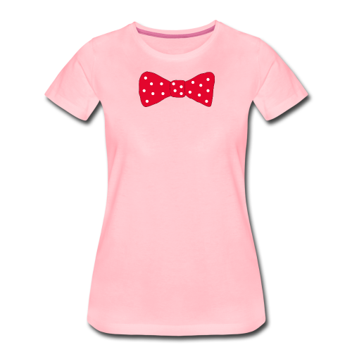 Bow tie Red with White Dots - Premium-T-shirt dam