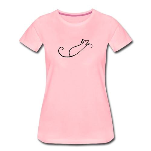 Rata estilizada - Camiseta premium mujer