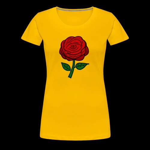 Rote Rose - Frauen Premium T-Shirt
