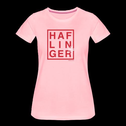 Haflinger Schriftzug / Pferd - Frauen Premium T-Shirt