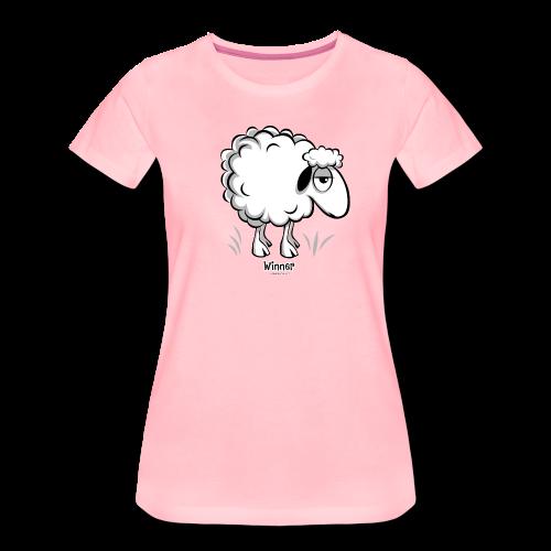 10-46 WINNER SHEEP - Products - Naisten premium t-paita