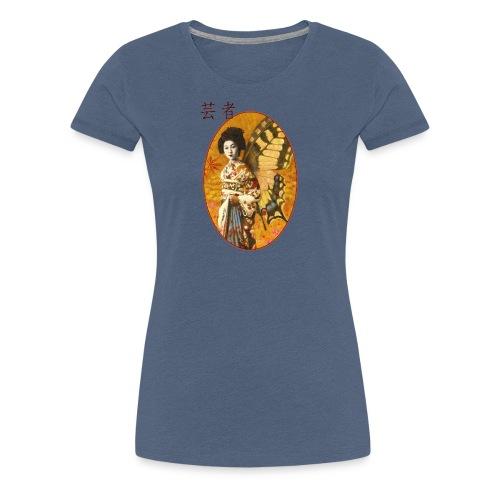 Vintage Japanese Geisha Oriental Design - Women's Premium T-Shirt