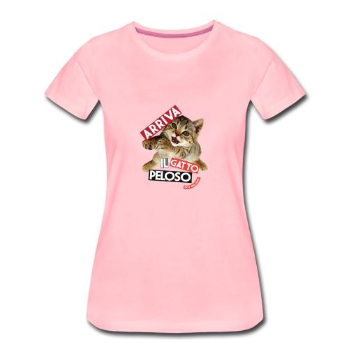 Arriva-il-Gatto-Peloso - Maglietta Premium da donna