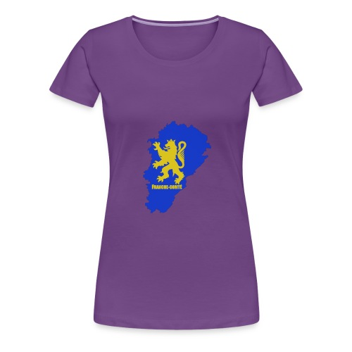 Carte Franche-Comté + lion - T-shirt Premium Femme