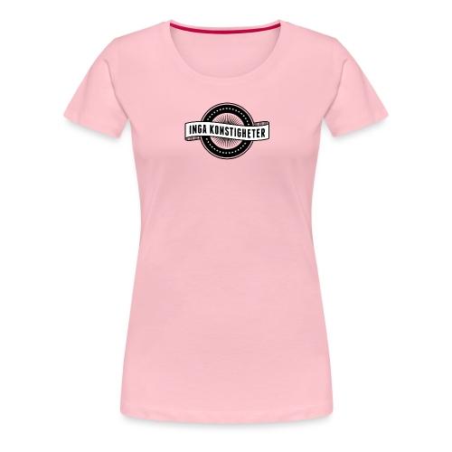 Inga Konstigheters klassiska logga (ljus) - Premium-T-shirt dam