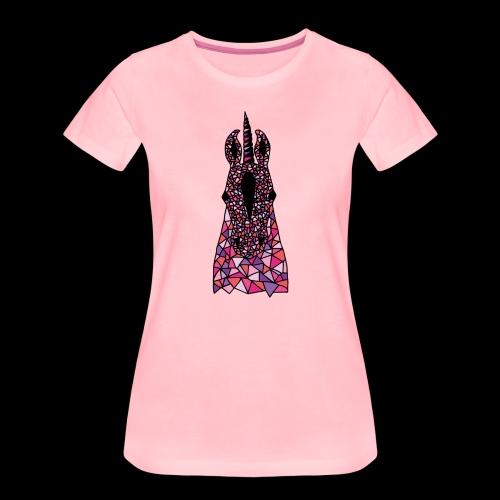 Einhorn Pink Pferdekopf - Frauen Premium T-Shirt