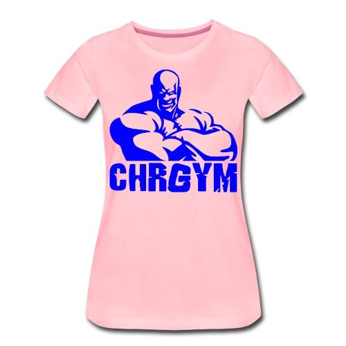 CHRGYM AZUL - Camiseta premium mujer
