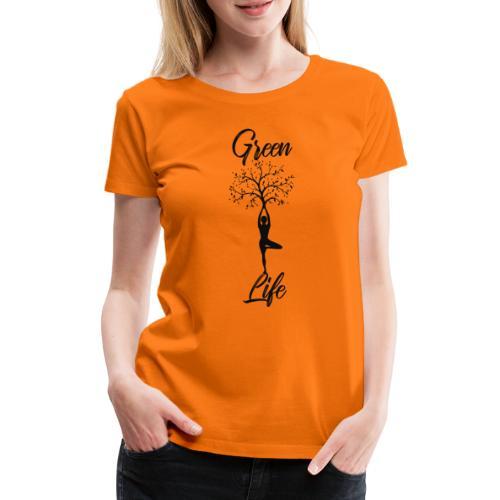 Greenlife Yoga Leben Nachhaltig Klimawandel - Frauen Premium T-Shirt