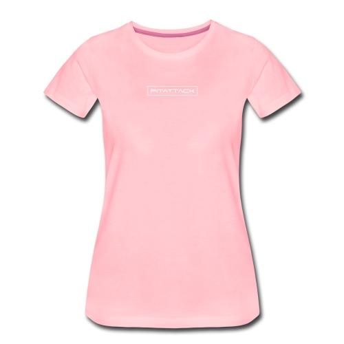 fitattack schrift rahmen eckig - Frauen Premium T-Shirt