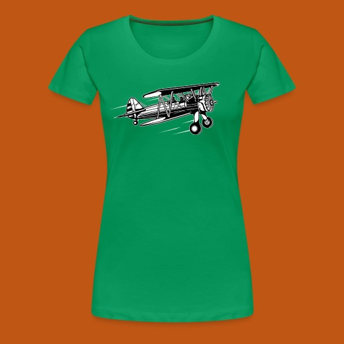Flieger / Airplane 01_schwarz weiß - Frauen Premium T-Shirt