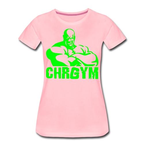 CHRGYM VERDE - Camiseta premium mujer