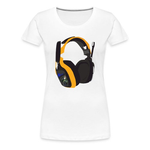 headsetcopy png - Women's Premium T-Shirt