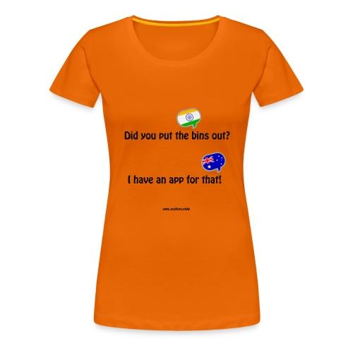 bins-app - Women's Premium T-Shirt