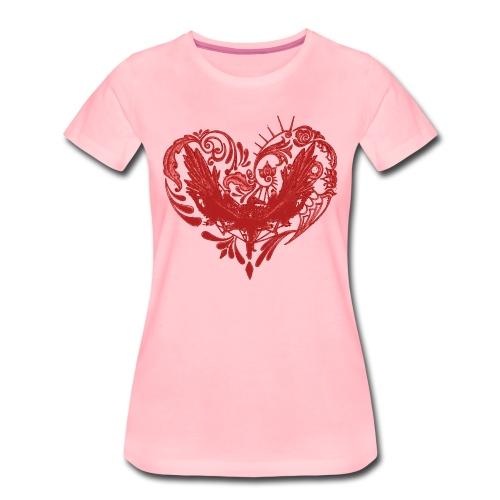 Hjertefuglrød png - Premium T-skjorte for kvinner