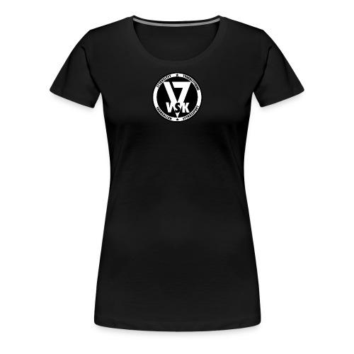 VSK logo fullWHITE png - Premium-T-shirt dam