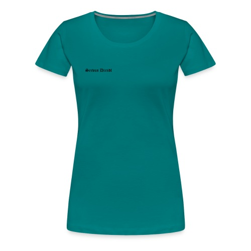 servus dirndl - Frauen Premium T-Shirt