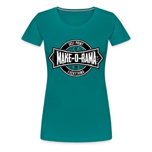 Make-o-Rama Grunge Circle - Frauen Premium T-Shirt
