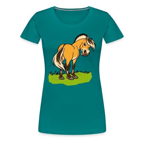 Freundliches Fjordpferd (Ohne Text) - T-shirt Premium Femme