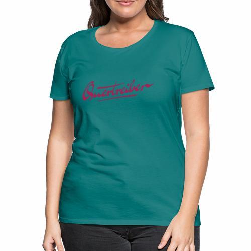 Quertreiber Schriftzug 2017 - Frauen Premium T-Shirt