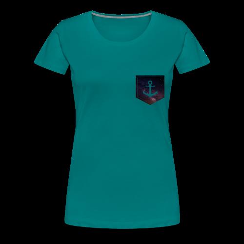 Brusttasche Galaxie Anker - Frauen Premium T-Shirt