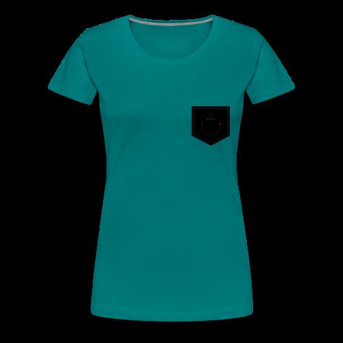 Brusttasche Anker mit Herz - Frauen Premium T-Shirt