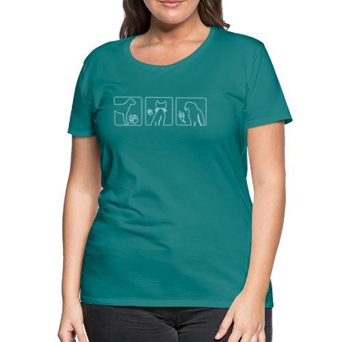 Animal track petcontest - Frauen Premium T-Shirt