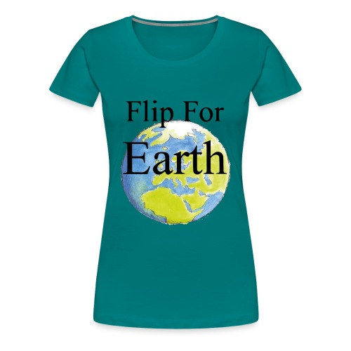 flip_for_earth - Premium-T-shirt dam