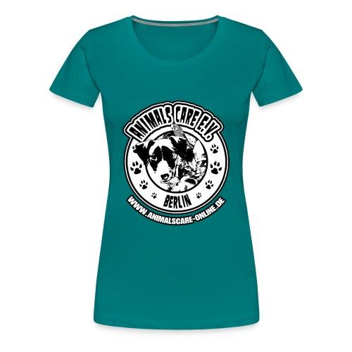 Animals Care Logo - Frauen Premium T-Shirt