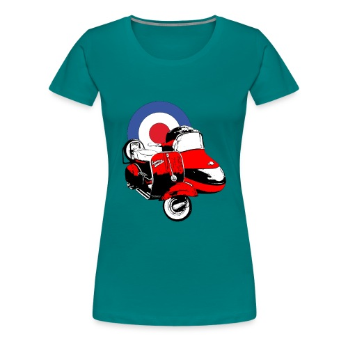 Scooter Sidecar - Women's Premium T-Shirt