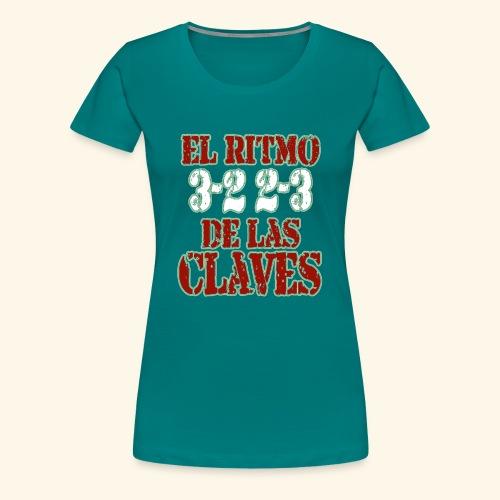 Salsa clave rhythm salsa music dance gift - Women's Premium T-Shirt