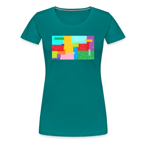 farbefrohe kunst - Frauen Premium T-Shirt