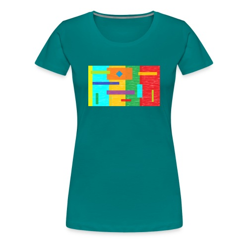 colours abstract - Frauen Premium T-Shirt