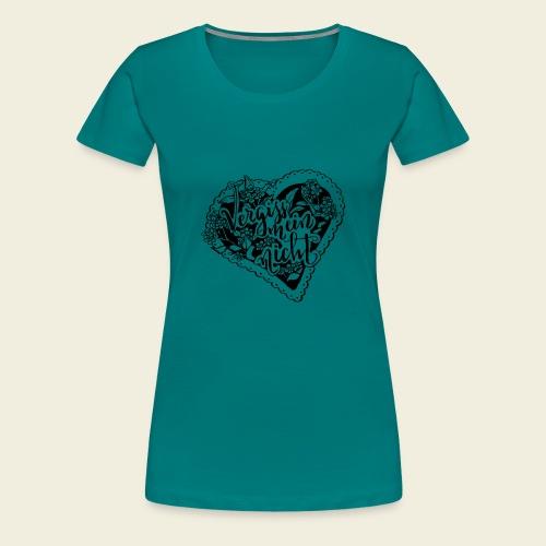 Vergissmeinnicht-Herz - Frauen Premium T-Shirt
