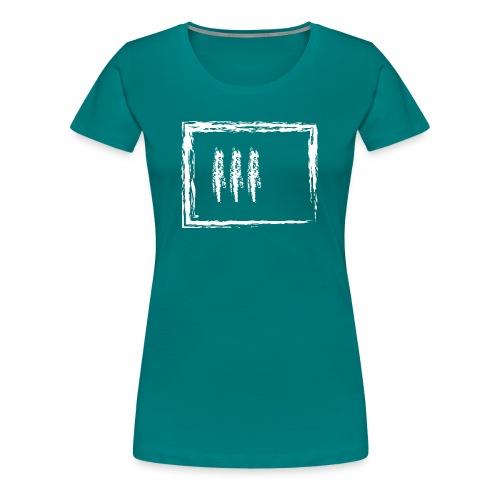 Wegzeichen 3 Min. warten - Kreide - Weiß - Frauen Premium T-Shirt