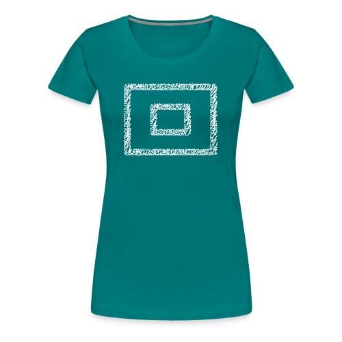 Wegzeichen 10 Min. warten - Stift - Weiß - Frauen Premium T-Shirt