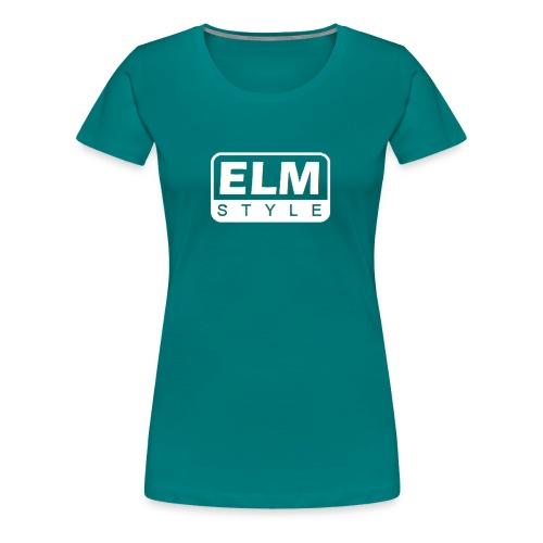 LOGO ELM BLANCO - Camiseta premium mujer
