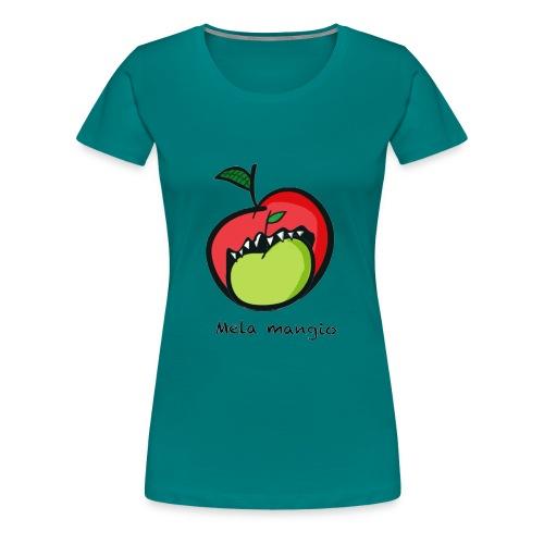 Angry for apple-Mela mangio - Maglietta Premium da donna