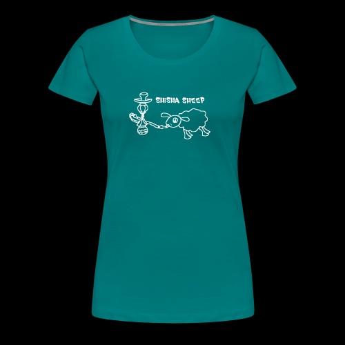 Shisha Sheep Drawing - Frauen Premium T-Shirt