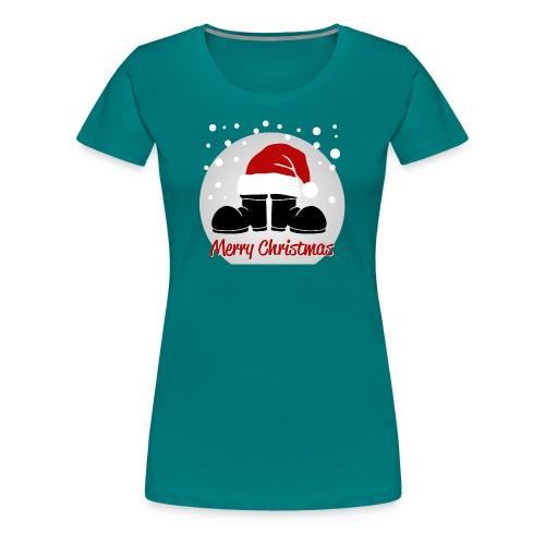 bottes merry christmas - T-shirt Premium Femme