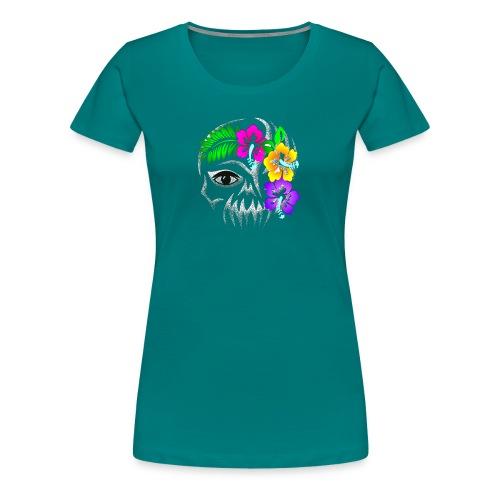 Alien Flower Skull - Frauen Premium T-Shirt