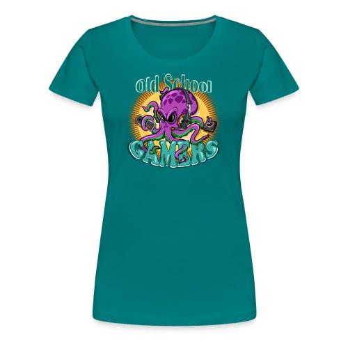 Old School Octopus Gamers - Camiseta premium mujer